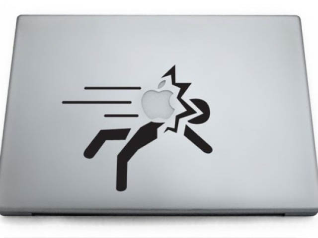 portal macbook decal sticker 50 Creative MacBook Decals and Stickers