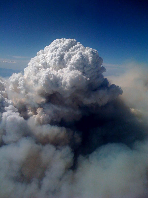 pyrocumulus cloud station fire aerial view 15 Incredible Cloud Formations