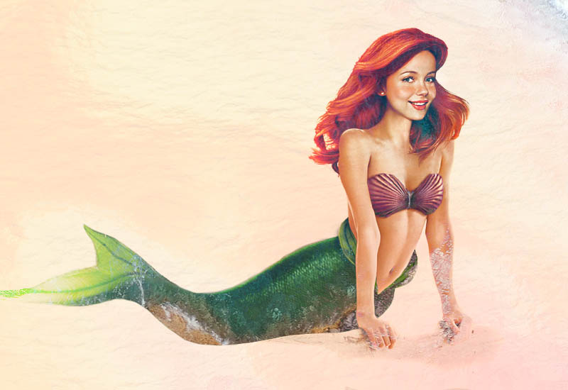 real life disney character aerial little mermaid Hyperrealistic Portraits Using Only Ballpoint Pens