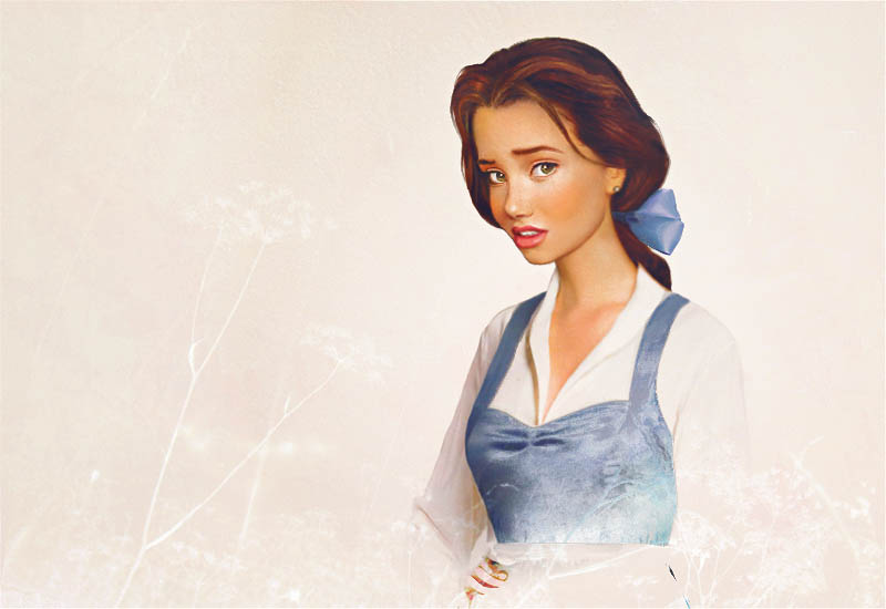 real life disney character belle beauty in the beast What Female Disney Characters Might Look Like in Real Life