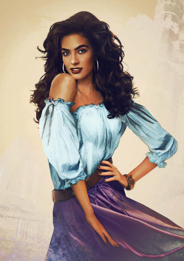 real life disney character esmeralda hunchback notre dame What Female Disney Characters Might Look Like in Real Life