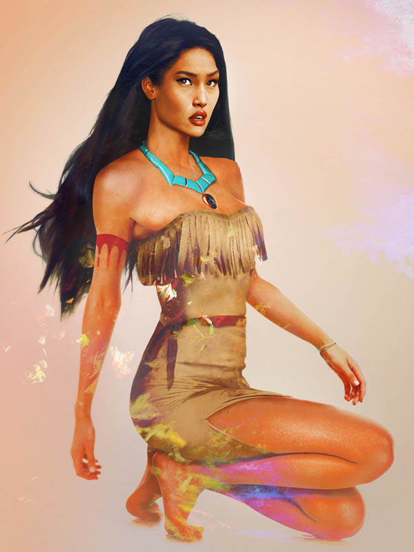 real life disney character pocahontas What Female Disney Characters Might Look Like in Real Life