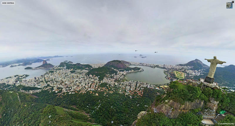 rio de janeiro brazil aerial panorama from above 1 Top Ten 360 Panoramas of Cities Around the World