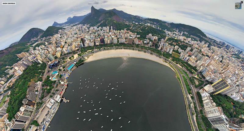 rio de janeiro brazil aerial panorama from above 2 Top Ten 360 Panoramas of Cities Around the World