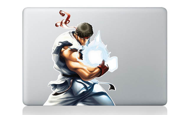 ryu street fighter macbook decal sticker 1 50 Creative MacBook Decals and Stickers
