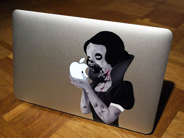 snow white macbook decal sticker 2 50 Creative MacBook Decals and Stickers