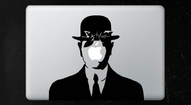 son of man macbook decal sticker 50 Creative MacBook Decals and Stickers
