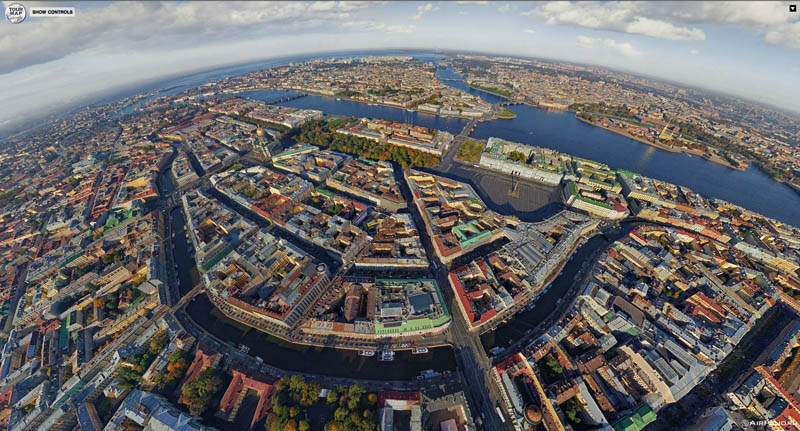 st ptersburg russia from above aerial panorama 1 Top Ten 360 Panoramas of Cities Around the World