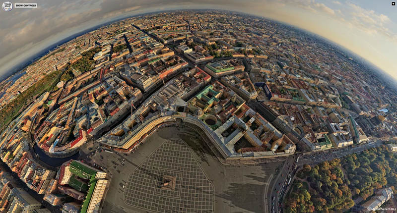 st ptersburg russia from above aerial panorama 2 Top Ten 360 Panoramas of Cities Around the World