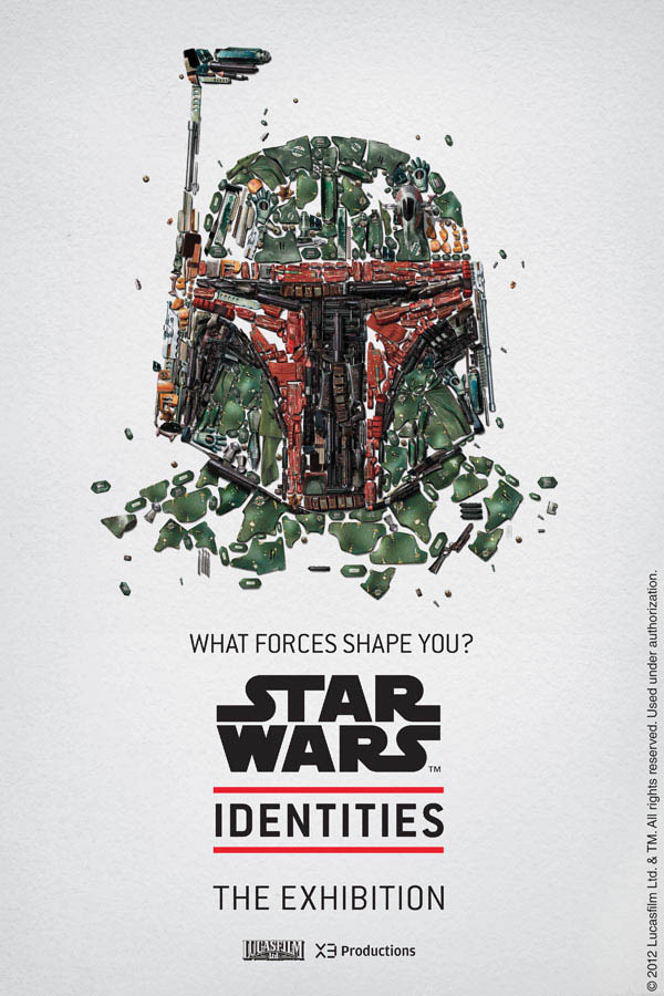 star wars identities poster bobba fett 1 Star Wars Identities Posters Show What Characters Are Made Of