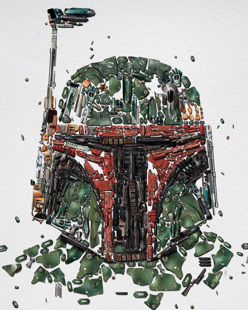 star wars identities poster bobba fett 2 Star Wars Identities Posters Show What Characters Are Made Of