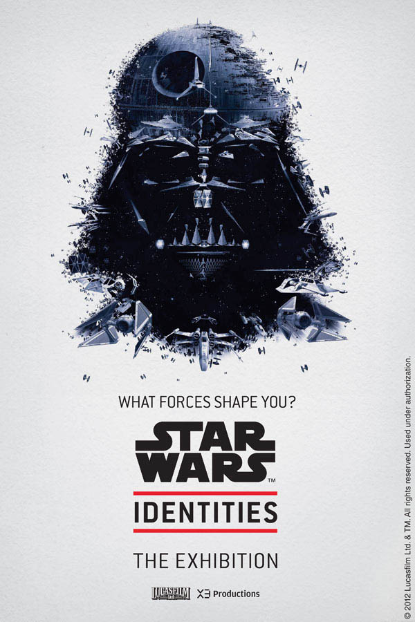 star wars identities poster darth vader 1 Star Wars Identities Posters Show What Characters Are Made Of