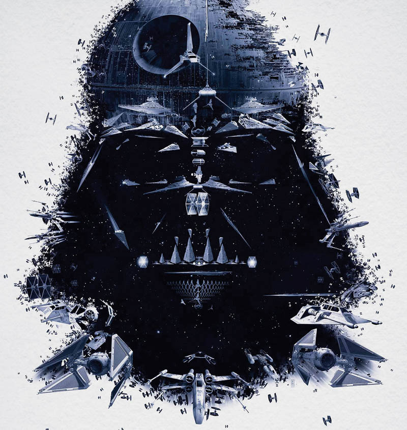 star wars identities poster darth vader 2 Celebrity Photo Mosaics by Charis Tsevis