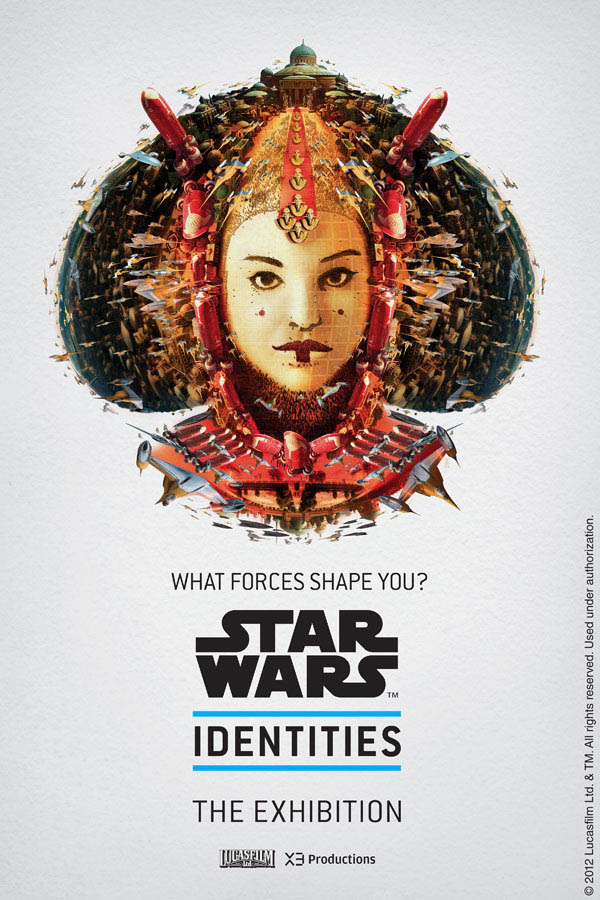 star wars identities poster queen amidala 1 Star Wars Identities Posters Show What Characters Are Made Of