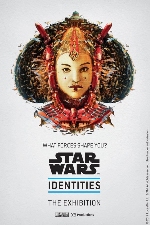star wars identities poster queen amidala 1 Star Wars Identities Posters Show What Characters Are Made Of