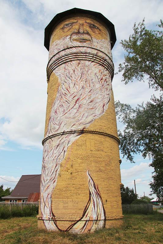 street art nikita nomerz bringing buildings to life 12 Painting Faces to Bring Buildings to Life