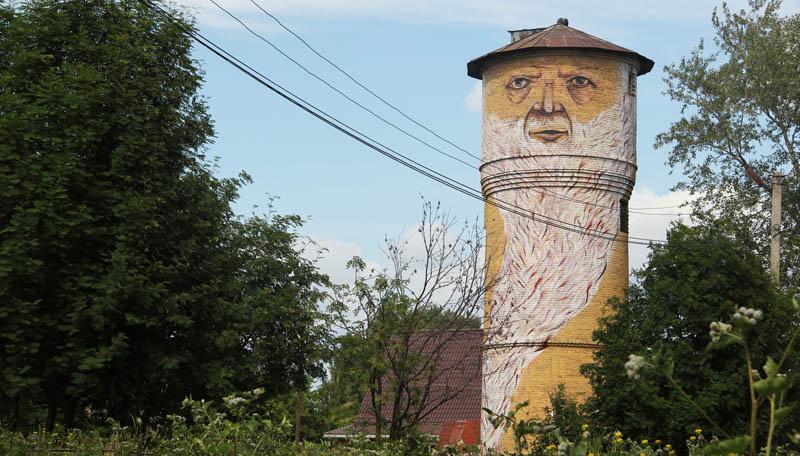 street art nikita nomerz bringing buildings to life 14 Painting Faces to Bring Buildings to Life