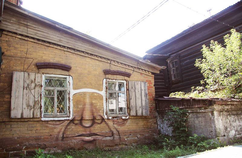 street art nikita nomerz bringing buildings to life 15 Painting Faces to Bring Buildings to Life