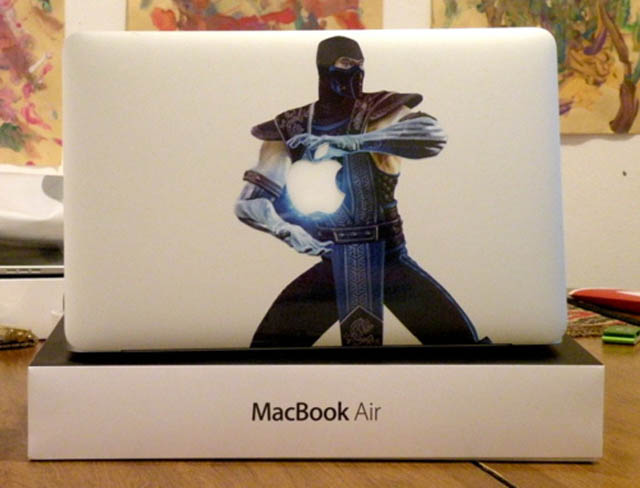 sub zero macbook decal sticker 50 Creative MacBook Decals and Stickers