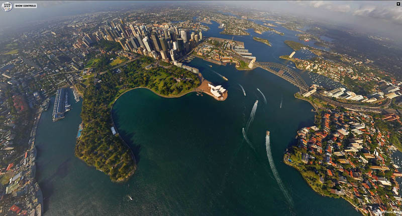 sydney aerial panorama from above 2 Top Ten 360 Panoramas of Cities Around the World