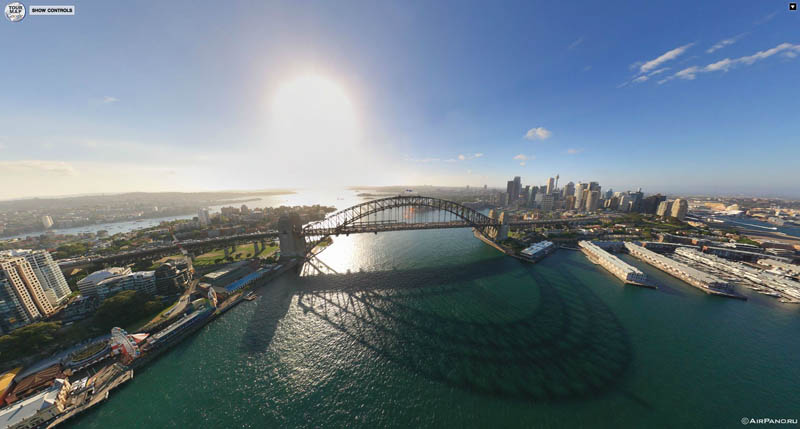 sydney aerial panorama from above 3 Top Ten 360 Panoramas of Cities Around the World