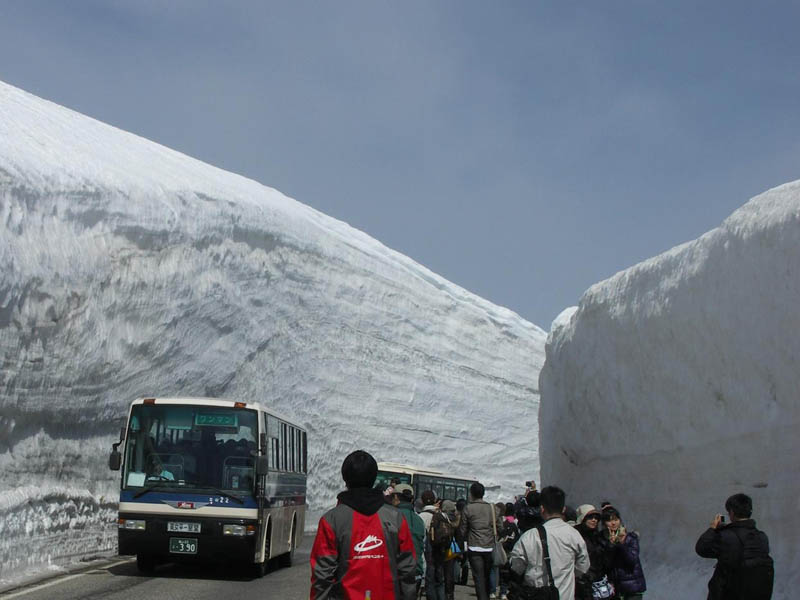 tateyama kurobe alpine route snow corridor 20 meters 65 ft walls 2 The 65 Foot (20m) Snow Corridor in Japan