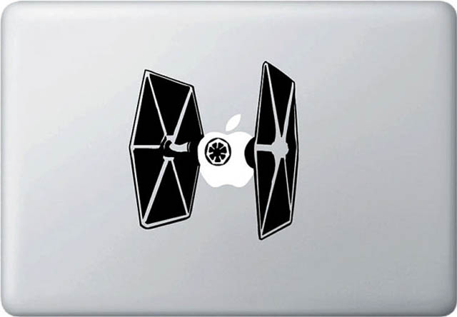 tie fighter star wars macbook decal sticker 50 Creative MacBook Decals and Stickers