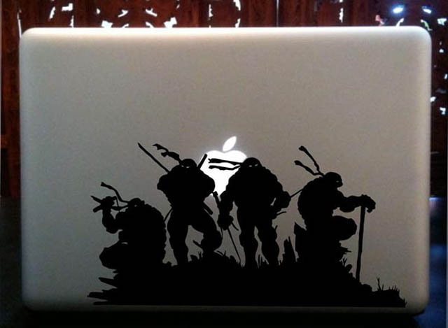 tmnt macbook decal sticker 50 Creative MacBook Decals and Stickers