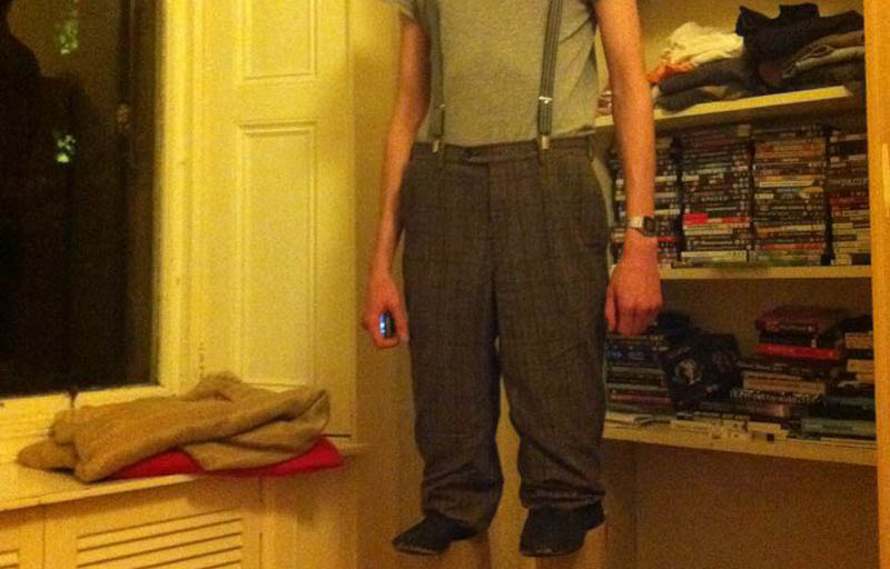 Picture Of The Day: 7 Footer Goes As Short Guy On Stilts