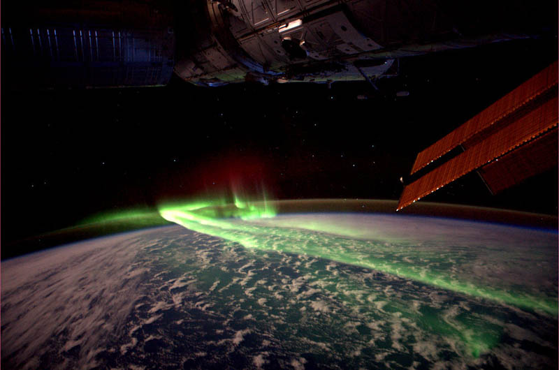 aurora australis soutern lights from spacc iss Picture of the Day: Aurora Australis (Southern Lights) From Space