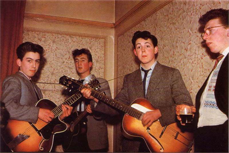 beatles young before famous childhood picture Portraits of Musicians Right After a Show