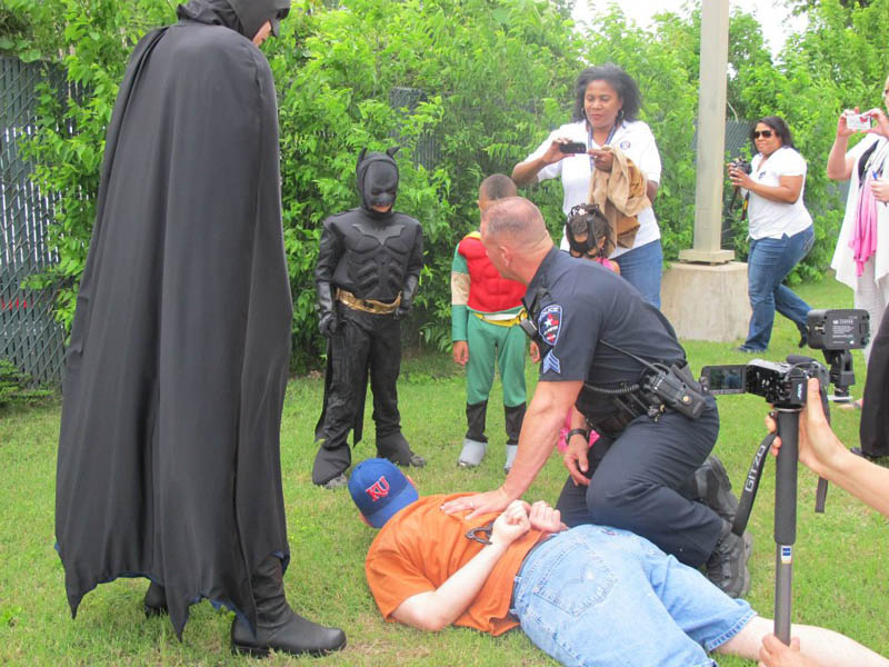 boy with leukemia batman for day arlington texas 1 Boy With Leukemia Becomes Batman for a Day