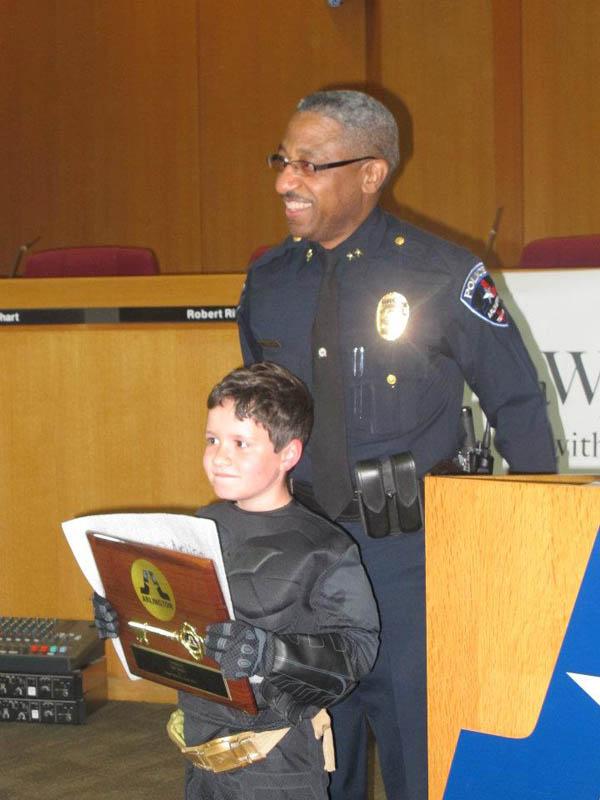 boy with leukemia batman for day arlington texas 9 Boy With Leukemia Becomes Batman for a Day