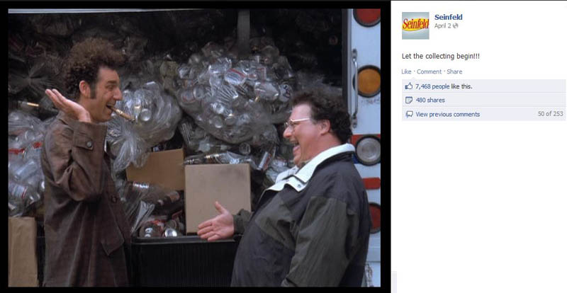 cans scheme seinfeld 50 Glorious Moments on Seinfeld