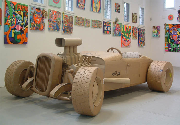 cardboard art sculptures chris gilmour 14 30 Amazing Sculptures Made out of Cardboard