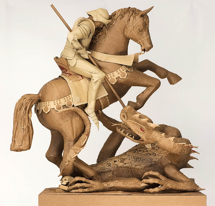 Amazing Sculptures Made Out Of Cardboard TwistedSifter - 26 creative sculptures statues around world