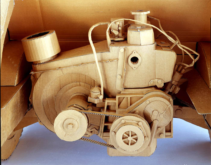 cardboard art sculptures chris gilmour 4 30 Amazing Sculptures Made out of Cardboard