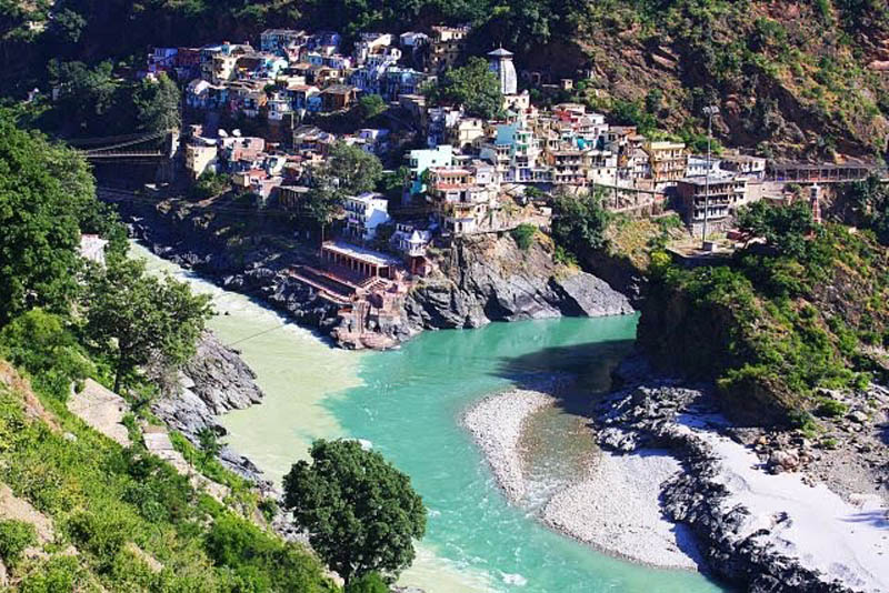 confluence of the alaknanda and bhagirathi rivers to form the ganges at devprayag When Rivers Collide: 10 Confluences Around the World