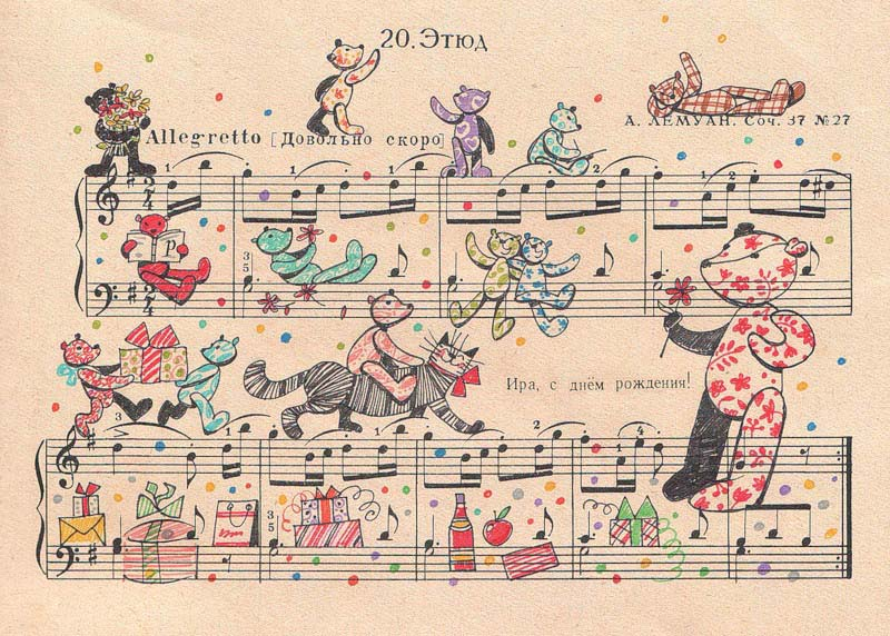 drawing art on sheet music bringing to life by people too 10 Using Art to Bring Sheet Music to Life