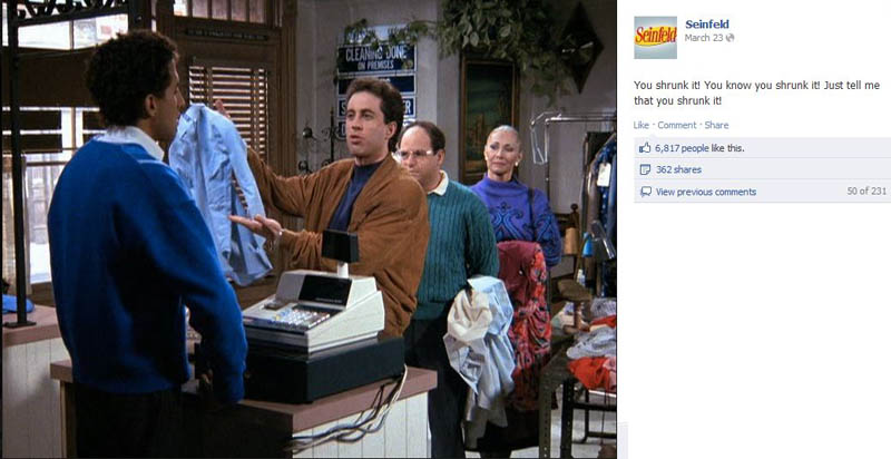 dry cleaning shrunk seinfeld 50 Glorious Moments on Seinfeld