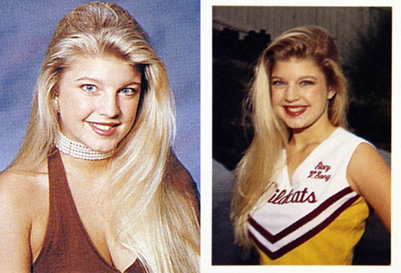 fergie younger high school cheerleader teenager childhood picture 40 Music Stars Before They Were Famous