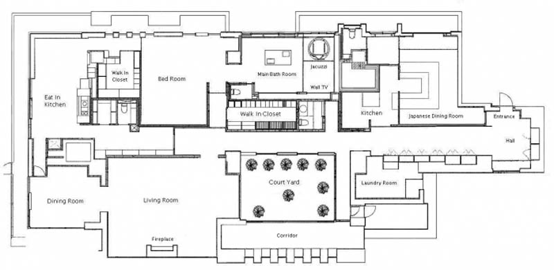 floor plan the house minamiazabu The Most Expensive 1 Bedroom Apartment in the World