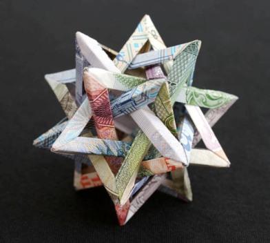 Amazing Origami Using Only Dollar Bills «TwistedSifter | 352x392