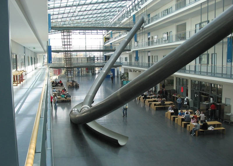 picture of the day the giant three storey indoor slides in munich