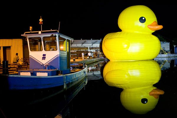 giant inflatable rubber ducky florentijn hofman hasselt belgium 1 The World Travels of a Giant Rubber Duck
