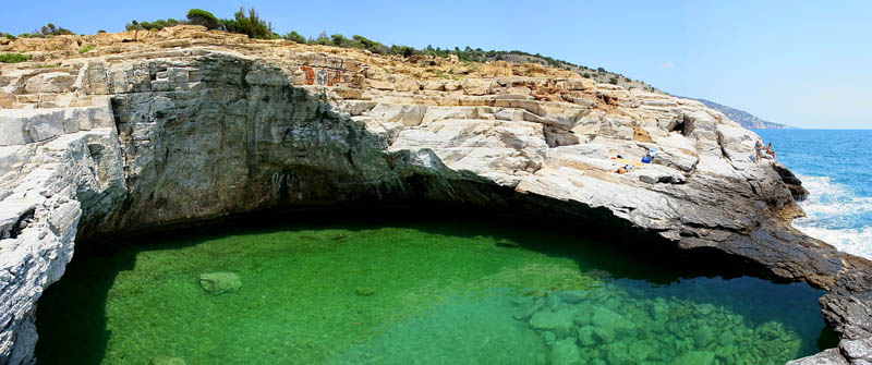 giola lagoon natural pool thassos greece 2 The Giola Lagoon in Greece
