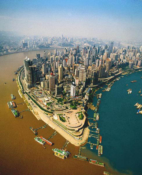 jialing and yangtze river confluence chongqing china When Rivers Collide: 10 Confluences Around the World
