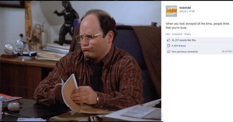 look annoyed seinfeld 50 Glorious Moments on Seinfeld