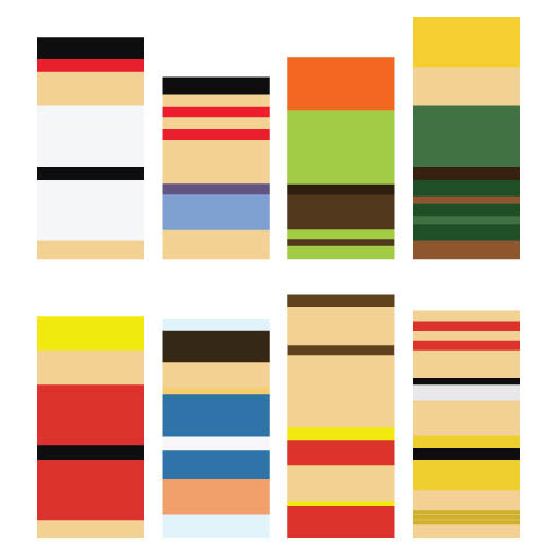 Recreating famous cartoon characters using the least lego for Minimalist art pieces