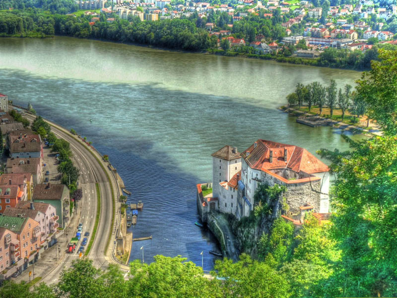 passau bavaria germany ilz danube and inn rivers confluence When Rivers Collide: 10 Confluences Around the World
